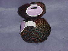 LOUET YARN: BONNIE IN BLUES/BROWNS/GREENS BULKY color03..FREE SHIPPING