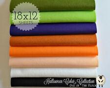 """HALLOWEEN Felt Collection, Merino Wool Blend Felt, EIGHT 12"""" X 18"""" Sheets"""