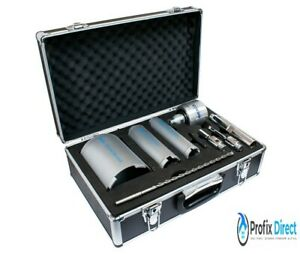 MEXCO 9 PIECE DRY DIAMOND CORE DRILL KIT WITH EXTRACTION UNIT