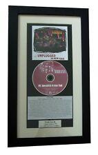 NIRVANA Unplugged New York CLASSIC CD Album TOP QUALITY FRAMED+FAST GLOBAL SHIP