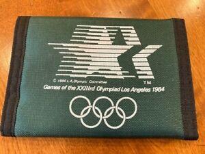 Vintage Los Angeles Summer Olympics 1984 Wallet Official Unisex Dark Green New