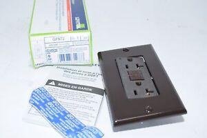 NEW Leviton GFNT2 Brown Self-Test SmartlockPro Slim GFCI Non-Tamper-Resistant