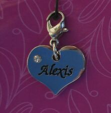dd Alexis HEART NAME CHARM for bracelet CHERISH CHARMS lobster closure jewelry