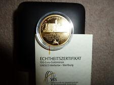 ### 100 Euro Goldmünze 2011 Wartburg F  -  Gold mit Etui und Zertifikat  ###