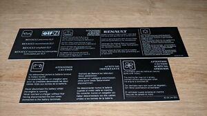 Renault Clio (Phase 2) 172 Crash bar/ Grill information sticker *REPLICA*