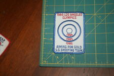 1984 Los Angeles Olympics U.S. Shooting Team Patch Aiming for Gold