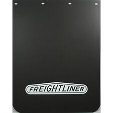 Freightliner Truck Mud Flaps 24 x 30 Black Polyurethane White Lettering, Pair