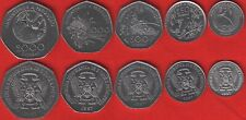 """Sao Tome and Principe set of 5 coins: 100 - 2000 dobras 1997 """"FAO"""" UNC"""