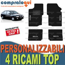 TAPPETINI per AUTO su MISURA per LANCIA DELTA (93-99) in MOQUETTE + 4 RICAMI TOP