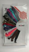 Scunci 18 Piece Ponytail Holders, Assorted Colors