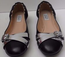 Steffen Schraut Black and Silver Leather Shoes - Size UK 5 EUR 38 RRP £145