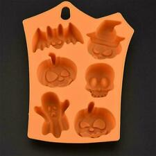 Halloween Mould Cake Chocolate Pumpkin Bat Skull Jelly Baking Fast Silicon S2S