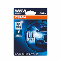 2x Genuine Osram Cool Blue Intense W5W (501) 5w 12v Bulbs [2825HCBI-02B]