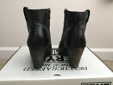 Women's Frye Ilana Whipstitch Short Ankle Boot Black Leather Size US 8 Ret. $378