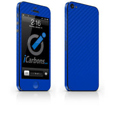 iPhone 5 Skin - Blue Carbon Fibre skin by iCarbons
