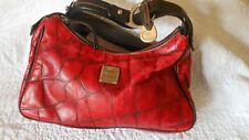 vintage Dooney & Bourke red croc embossed leather shoulder strap satchel....nice
