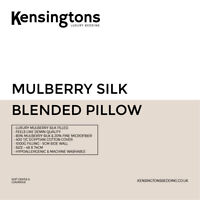 Kensingtons® Mulberry Silk Microfibre Pillow Hotel Quality Egyptian Cotton Cover