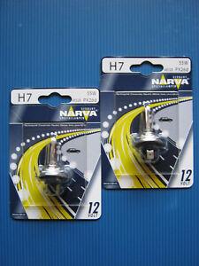 2x H7 Halogenlampe  12 V/55W (Sockel: PX 26d) NARVA German technology #48328 Bli