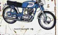 Ducati 250 Diana Mark3 1964 Aged Vintage SIGN A4 Retro