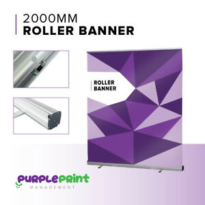 2000mm wide Roller Banner / Pop Up / Pull Up Exhibition Stand - 2m Wide - Metre