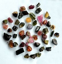 AAA WHOLESALE LOT 50 CT SCOOP NATURAL MULTI TOURMALINE ROUGH GEMSTONE LOOSE RAW