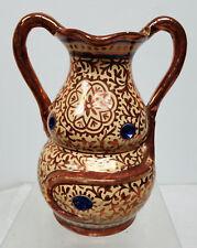 Antique Vintage Hispano Moresque Style Luster War Vase Jug As Is Damaged Repaire