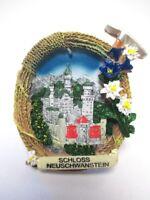 Schloss Neuschwanstein Füssen 3D Poly Fridge Magnet Souvenir Germany