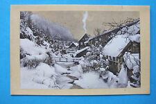 Winter Schnee AK Altenau Okertal 1910-20er Ortsansicht Häuser Geäbude Stadl  N9