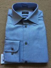 "NEXT Men's Signature Grey Textured Long Sleeve Shirt, Size 16"", Chest 42"", £40"