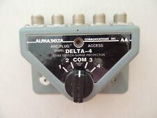 Alpha Delta Delta-4 Four Position Antenna Coax Switch & Surge Arrestor
