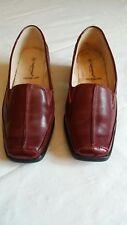 Cushion-Walk Tan Brown Ladies Formal Shoes Patent details UK6 Wide E-EU39-US8