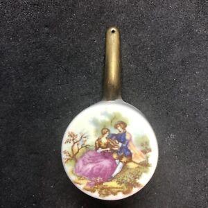 Miniature Dollhouse Limoges France POT WALL HANGING SAUCE PAN Porcelain Couple