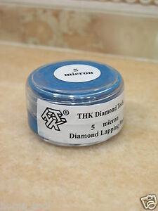 1 bottle THK 5 micron Diamond polishing lapping paste pastes compound 20 Gram