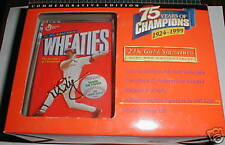 Mark McGwire Cardinals 1999 Mini Wheaties Box 24k Gold