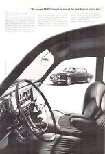 """1965  Jaguar 3.8 """"S""""  Roadster PRINT AD"""