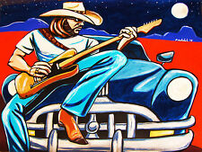 HANK WILLIAMS JR PRINT poster guitar fender telecaster pontiac living proof cd