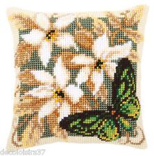 VERVACO 0146841 Cuscino Farfalla Verde su Schema grossa telaio