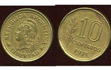 ARGENTINE 10 centavos 1971  ( bis )