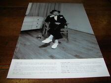 SERGE GAINSBOURG - Mini poster Noir & blanc 6 !!! PAPIER GLACE !!!!!!!!!!!!
