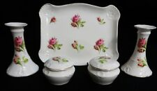 F. WINKLE & CO. WHIELDON WARE 7Pc VANITY / DRESSER SET~Tray/Candle Holders/Boxes