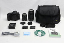 Canon EOS 5D Mark III 22.3 MP Digital SLR Camera EXCELLENT TWO Canon Lenses +Bag