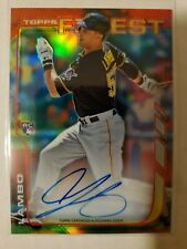 Andrew Lambo 2014 Topps Finest On Card RC Rookie Auto AUTOGRAPH Pirates