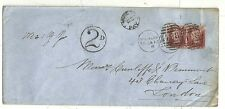 * 1870 MANCHESTER >LONDON 2d RATE COVER H/S 2d POSTAGE DUE IN CIRCLE MORE TO PAY