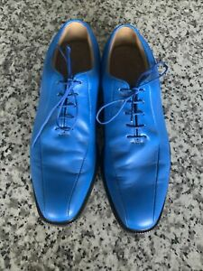 Footjoy Icon MyJoy Men's Size 10M Blue Leather Golf Shoes
