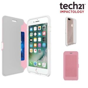Tech21 EVO Wallet Active Flip Cover Card Holder Case for iPhone 8/7 Plus Pink