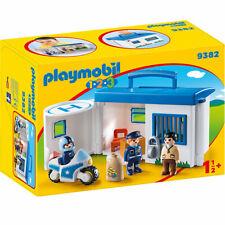 Playmobil 1.2.3 Take Along Police Station 9382