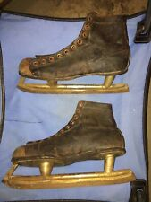 Vintage C.C.M. Mens Skates Size 12 Made In Weston Canada