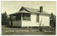 RPPC No 1 Cottage Smith's Pine Resort Conover Wisconsin WI Real Photo Postcard