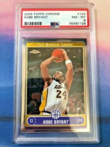 2006 Topps Chrome Kobe Bryant #129 PSA 8 NM-MINT