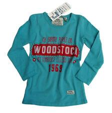 No Tomatoes Longsleeve Shirt türkis rot Woodstock Nieten Vintage  Gr. 116  NEU